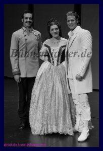 """Zusammen mit Roberta Valentini und Maximilian Mann beim Presscall zur Hamburg Premiere von """"Elisabeth"""" im Frühjahr 2016"""