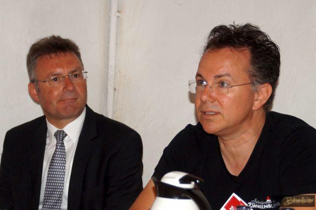 Landrat Dr. Achim Brötel und Intendant Rainer Roos