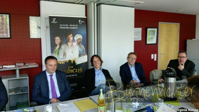 (v.l.n.r. Claudio Griese, Peter Scholz, Harald Wanger, Wolfgang Haendeler)