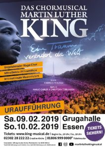 Plakat Martin Luther King Musical-Nathalie Brandt-Karl May Spiele-Reisemesse-2004